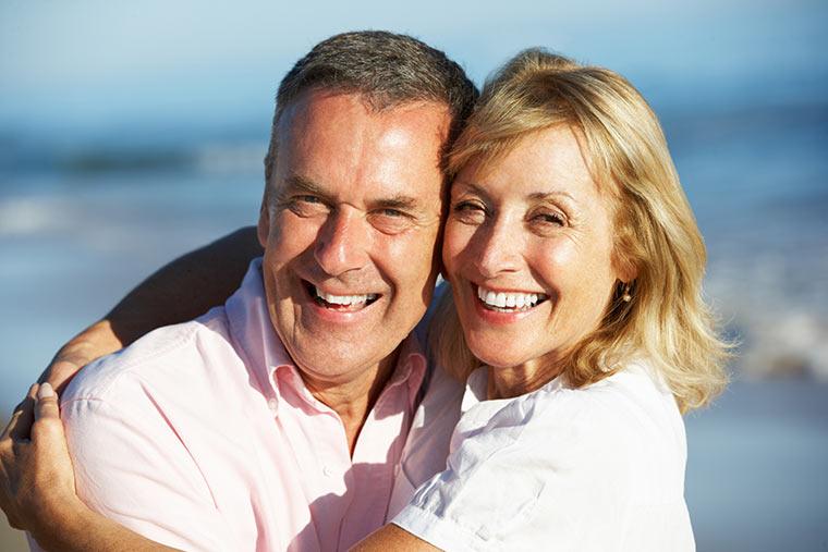 happy pensioner couple