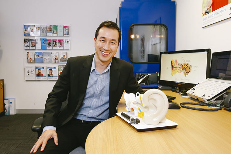 Audiologists at Alpha Hearing, Michael Wong