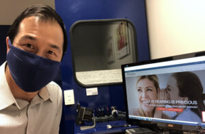 Michael Audiologist with mask covid-19