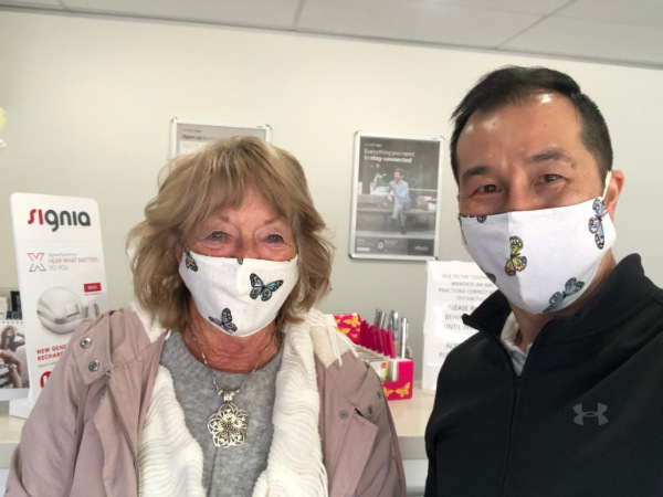 wearing face mask Audiology Michael Wong and Sandra
