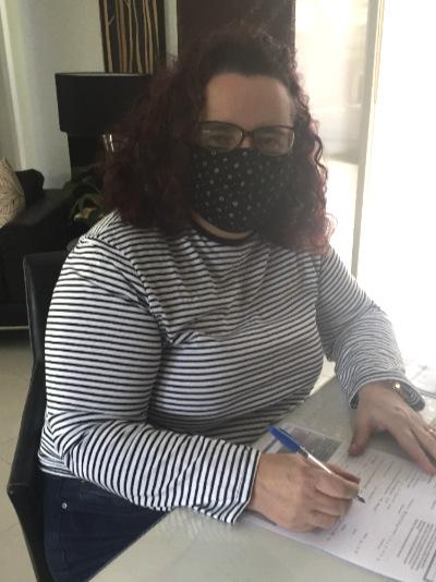 wearing face mask Emma Leo